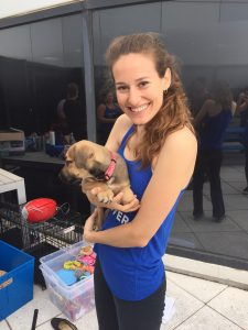 Brooke with Puppy