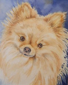 8 X 10 WatercolorPom