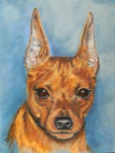 8 X 10 PastelMinature Pinscher