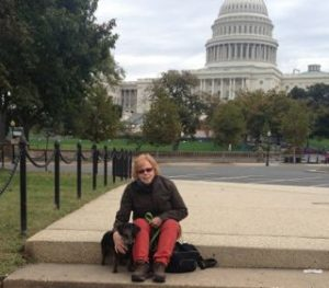 I love this picture of Dolly in me in front of the Capitol Building.Dolly and me at Capitol