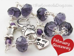 February Giveaway at Talking Dogs blog and For Love of a Dog Jewelry is this one of a kind Love My D
