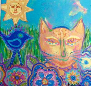 Portrait of an Orange Cat by Laura Tompkins hazuzu-painting