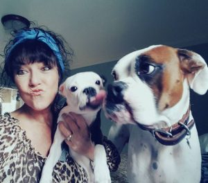 @maggie3 Bowie and I can't wait to see you in May! MUAH! me and bow and bud