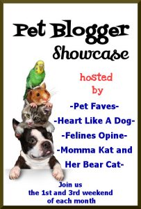 I wanted to let every know about a linky party I cohost with a couple of other pet bloggers. It take